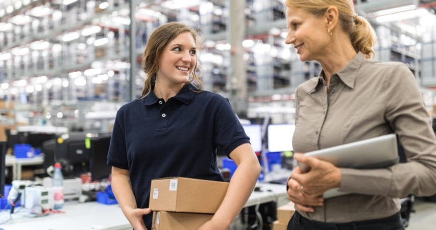 Distribution Company Employers Walking Together
